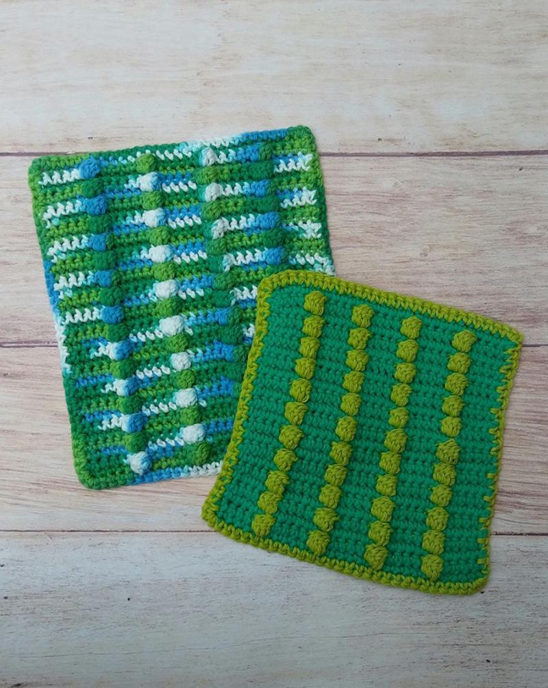 Crochet-bobble-washcloth