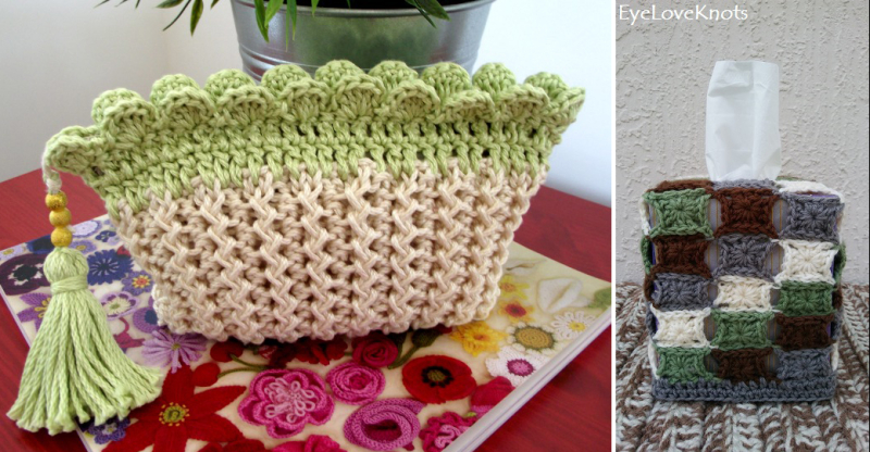 Crocheted-tissue-box-cover