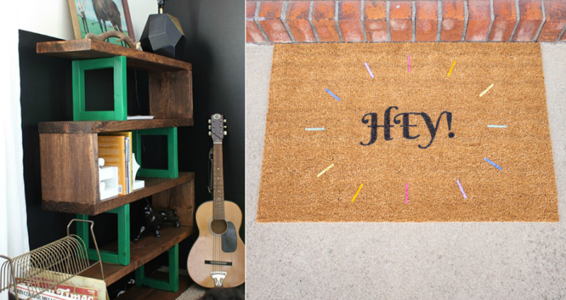 Ikea-hack-doormat-diy-modern-rustic-display-shelf