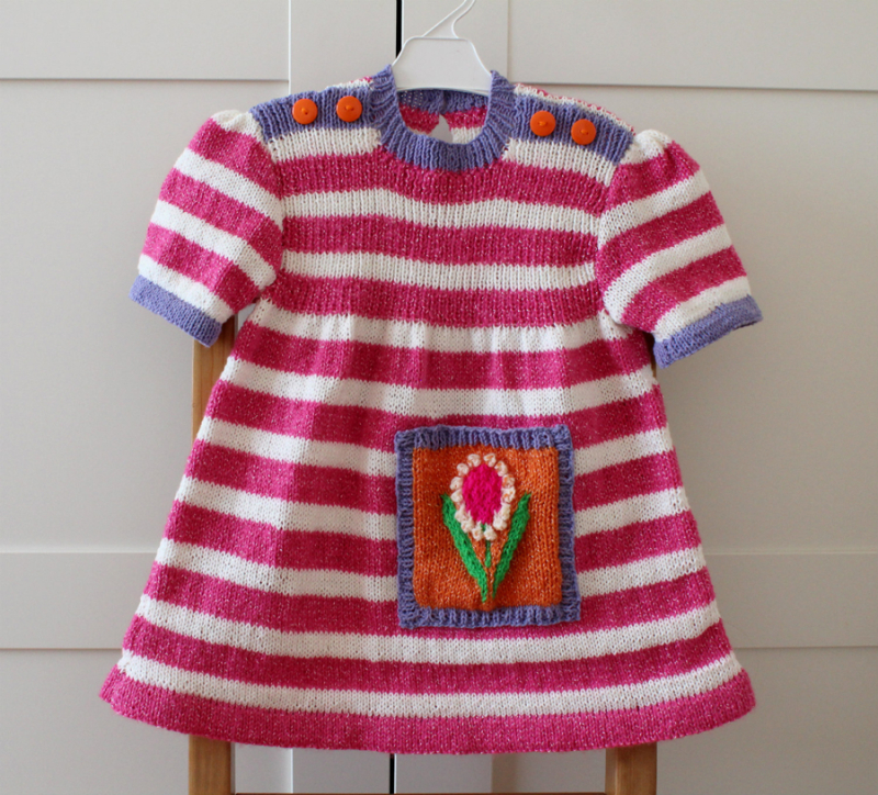 Knit-pink-white-baby-dress