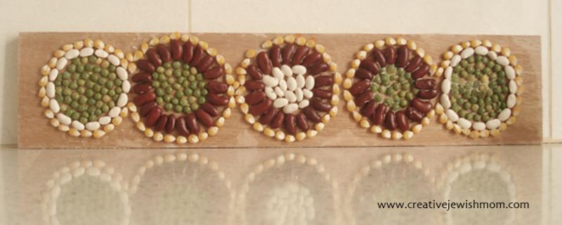Bean-mosaic-craft
