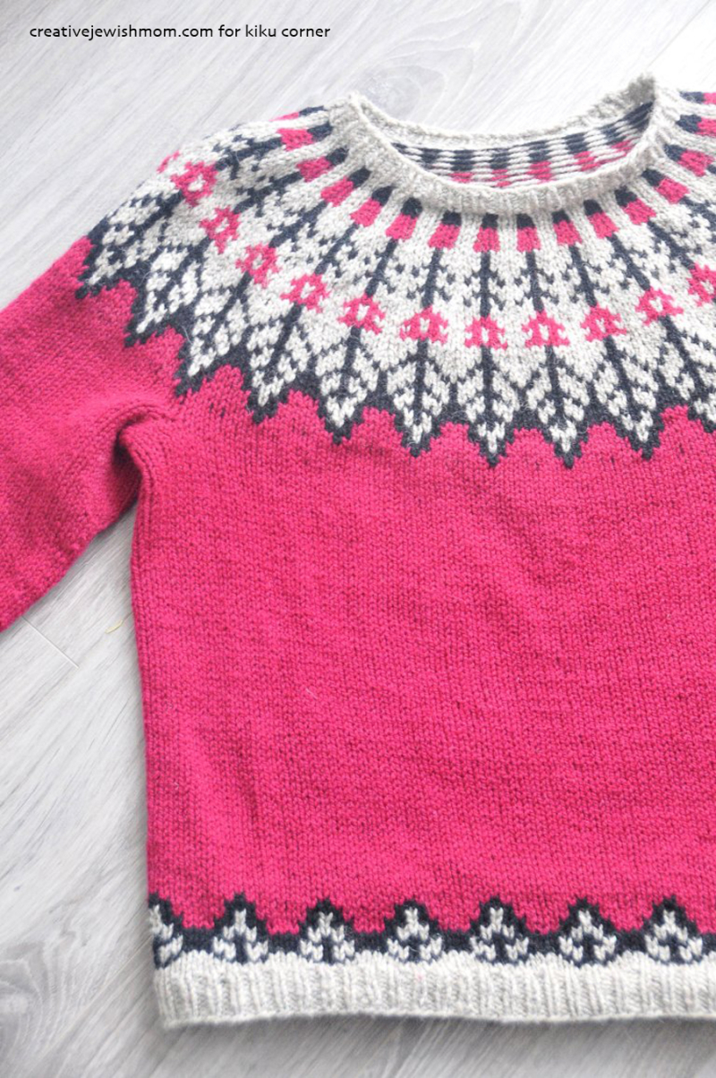 Knit-modern-fairisle-leaf-pattern-sweater