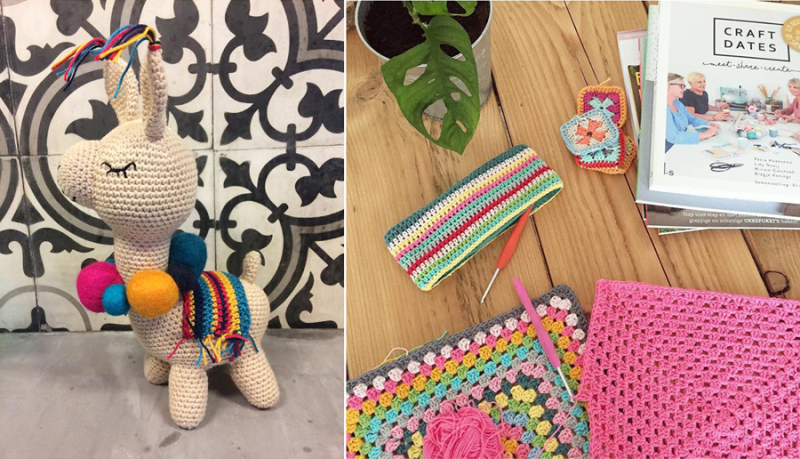 Crocheted-llama-toy