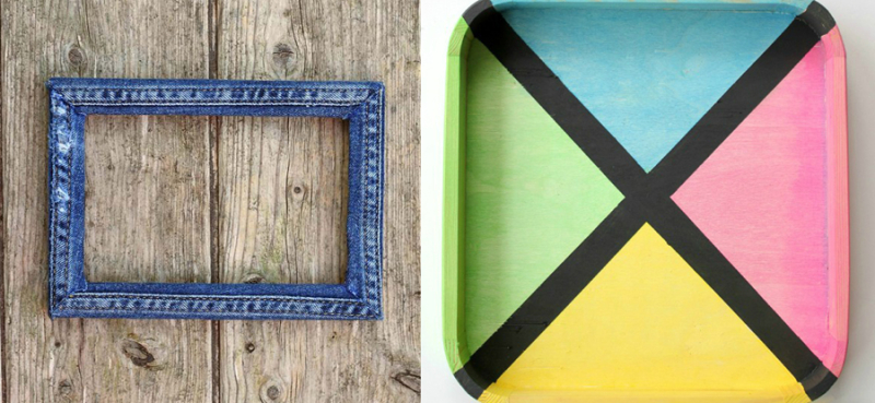 DIY-denim-scraps-frame how-to-make-colored-stain