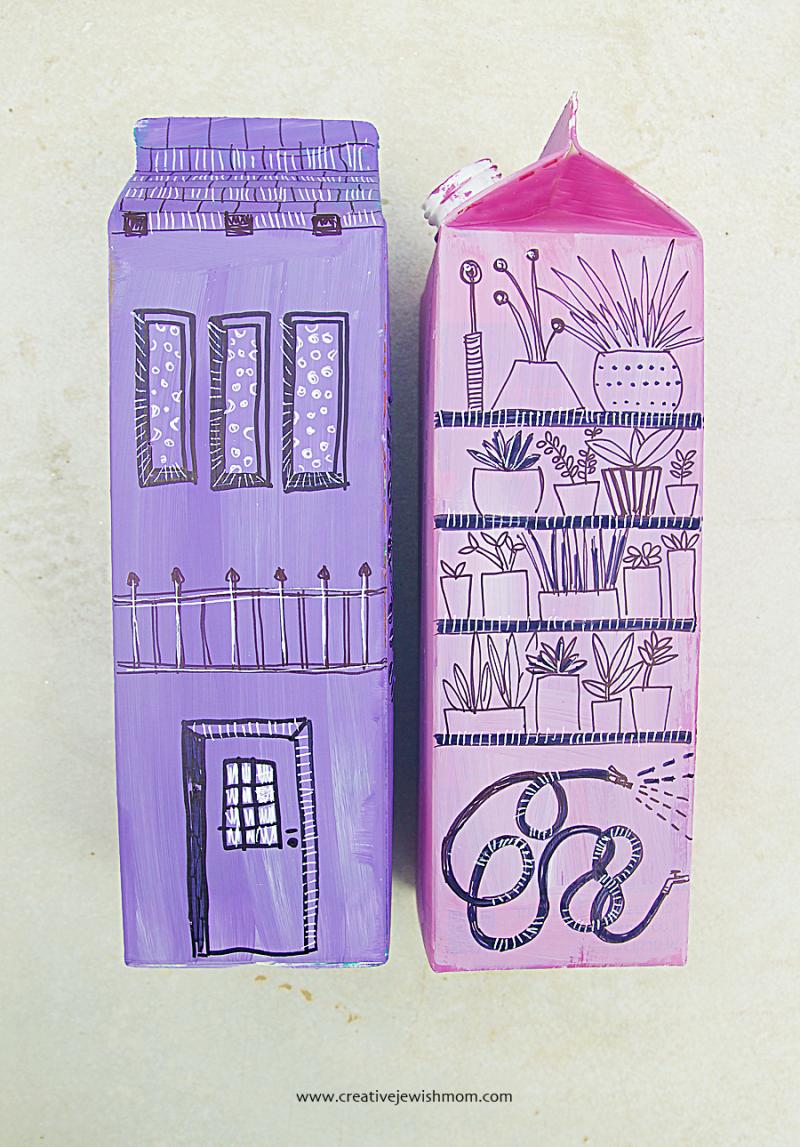 Drawing On Milk Cartons Craft