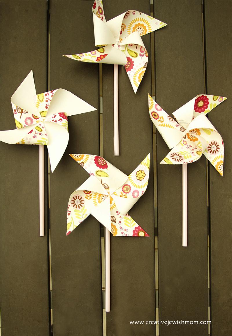 DIY simple pinwheel paper