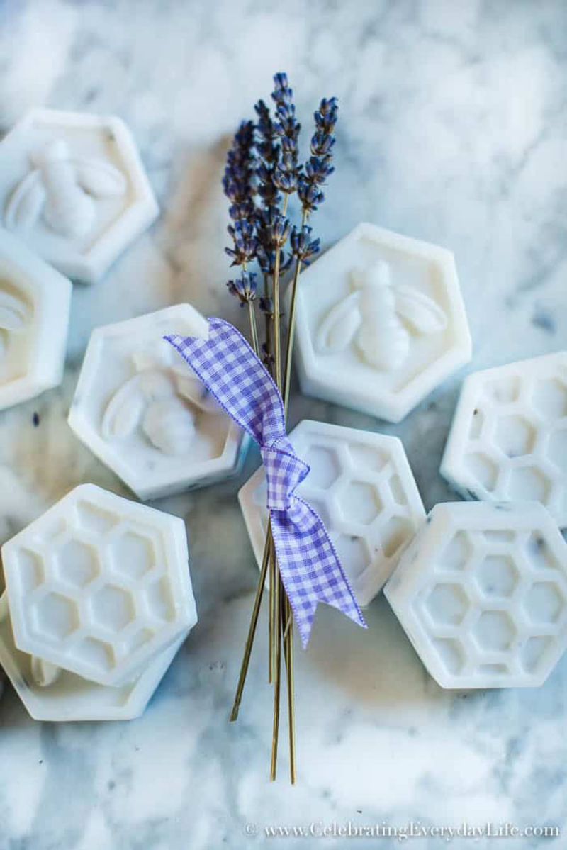 Hexigon-bee-lavender-soap