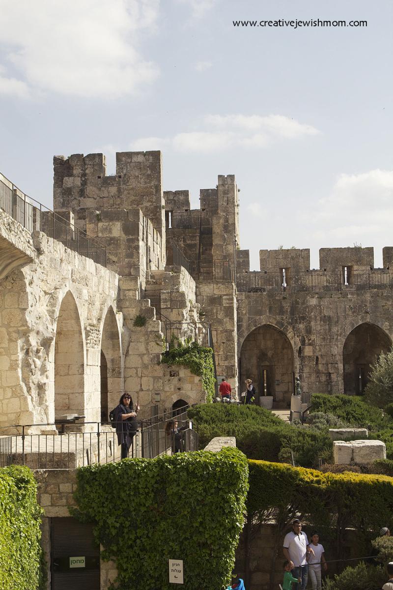Tower Of David citadel Museum walls