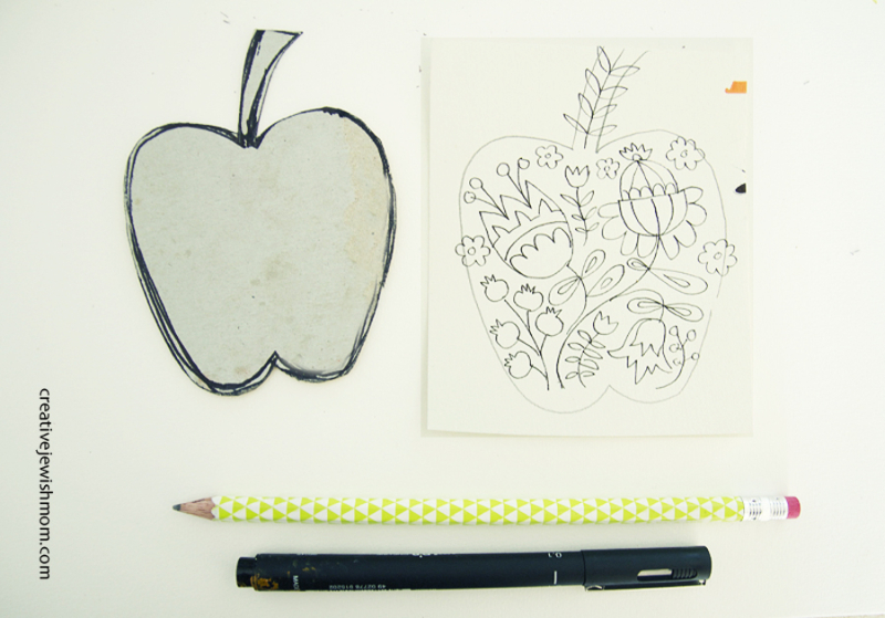Folk-art-doodle-apple-gift-tags