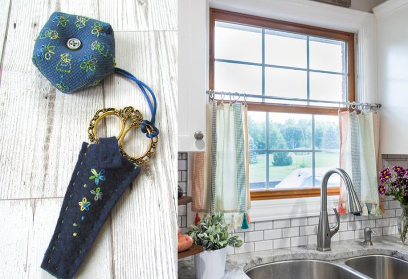 No-Sew-Kitchen-Curtains felt-scissors-pouch7