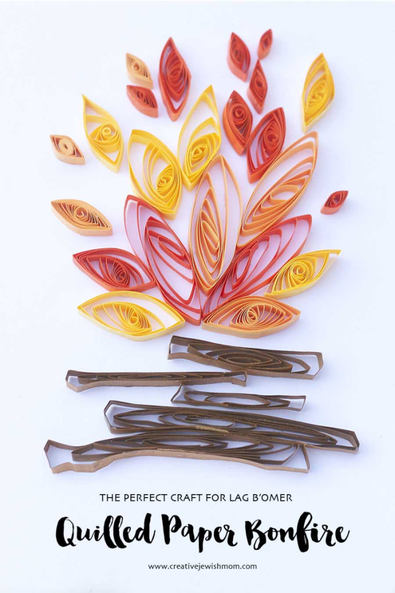 Quilled-paper-campfire-craft