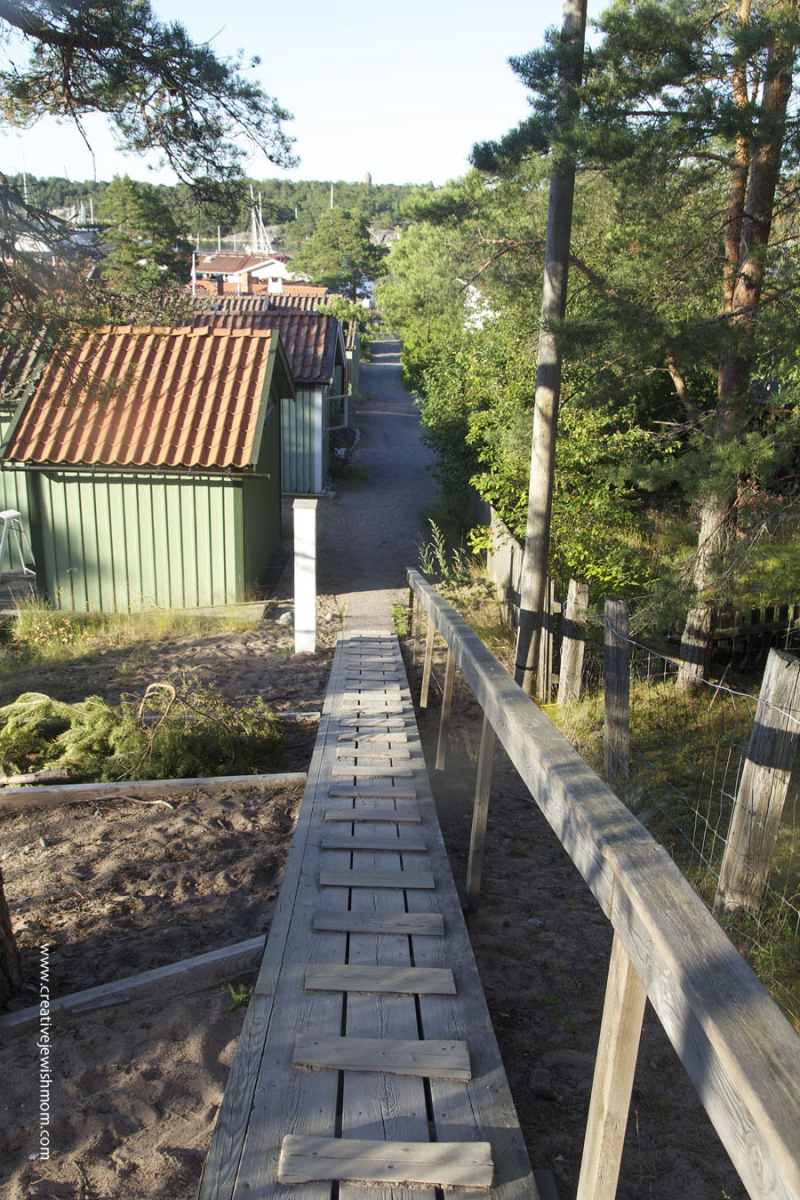 Sandhamn-Sweden-Boardwalk-Down-From-Hill