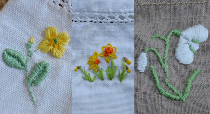 Embroidered-flowers-on-linen