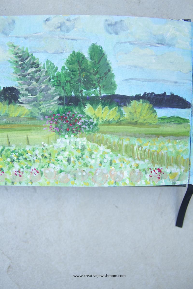 Sketchbook-landscape-painting-gouche