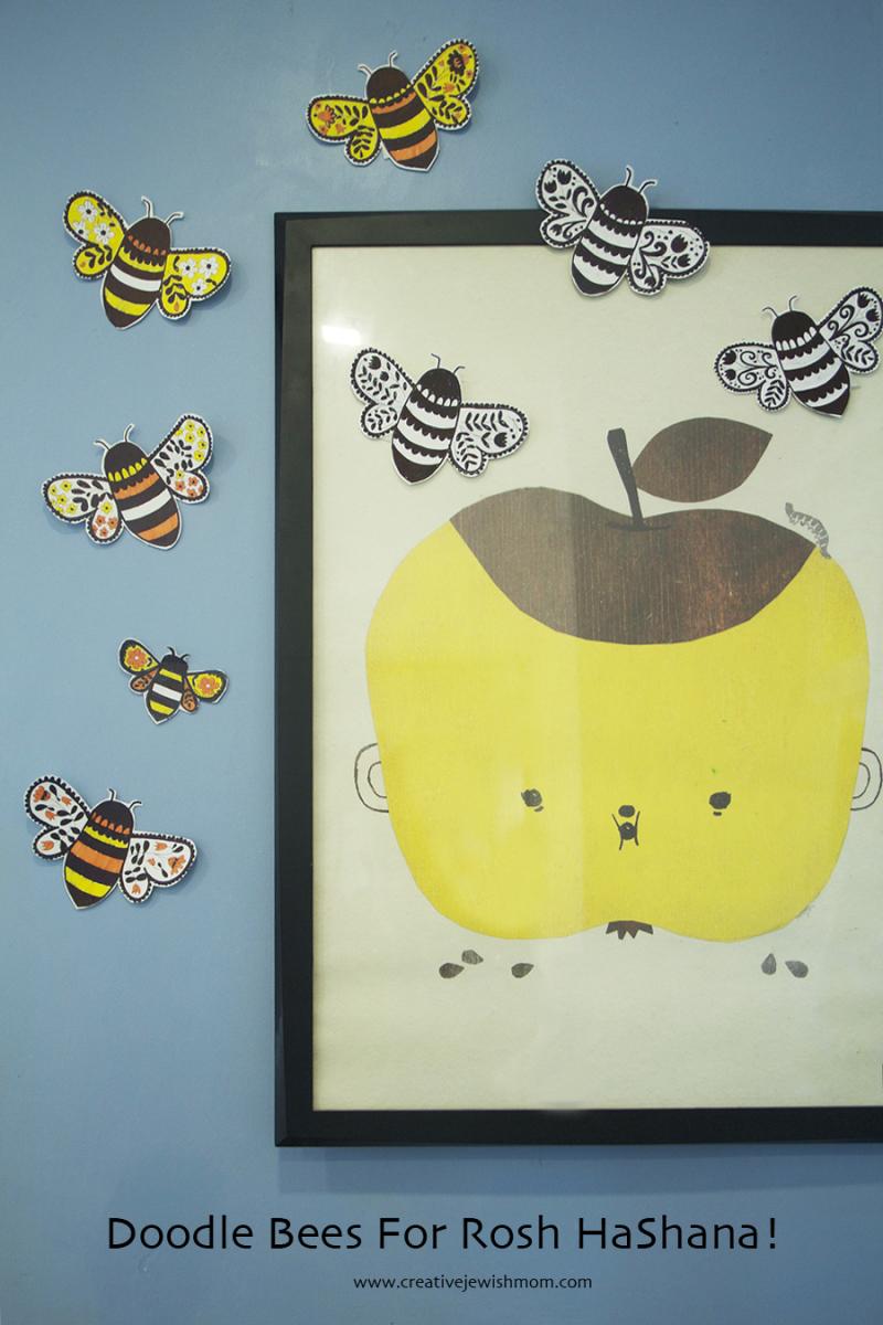 Doodle-bees-rosh-hashana-craft