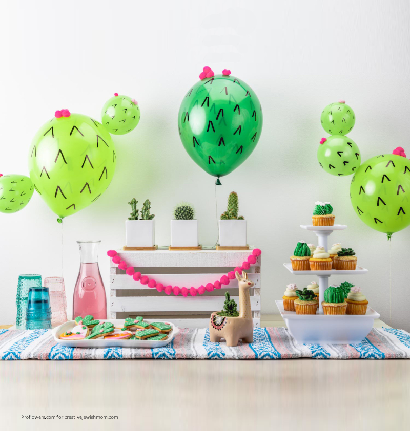 Diy-cactus-balloon-dessert-table