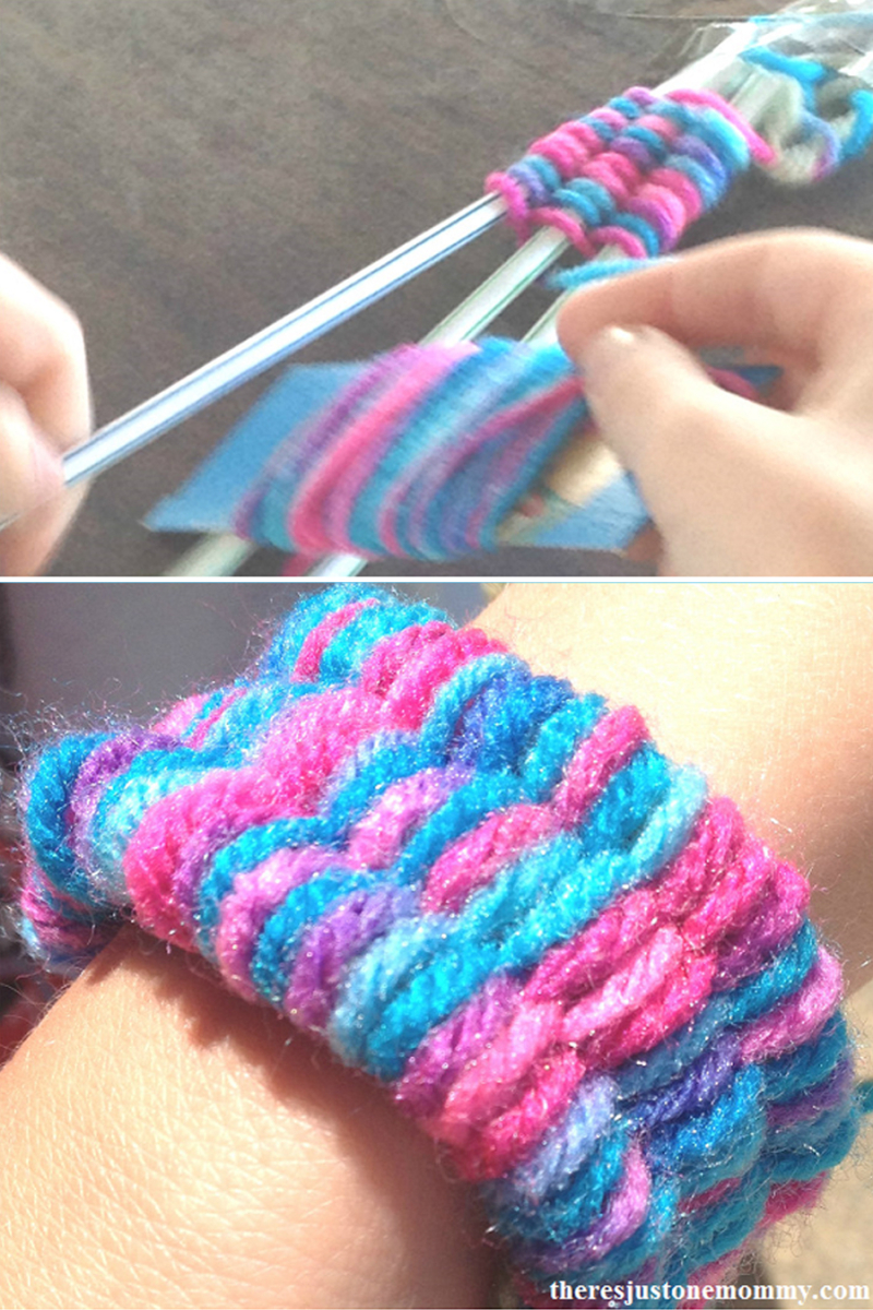 Weaving-with-straws-kids-craft