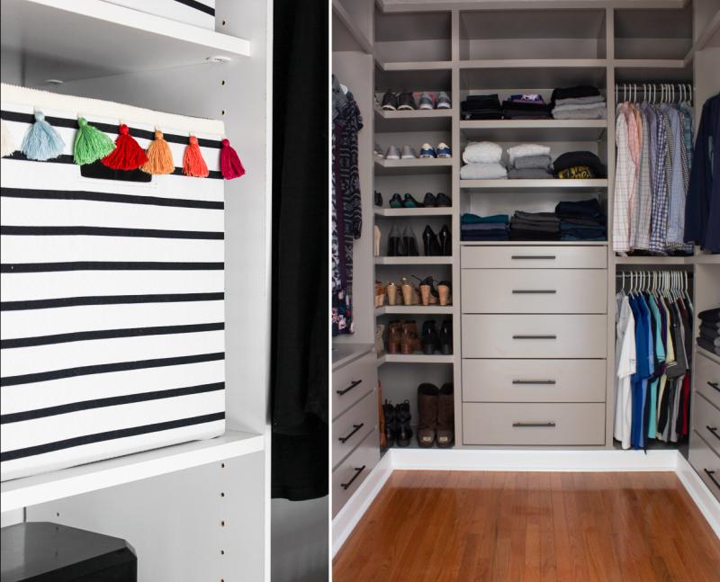 IKEA Ivar hack for walk in closet