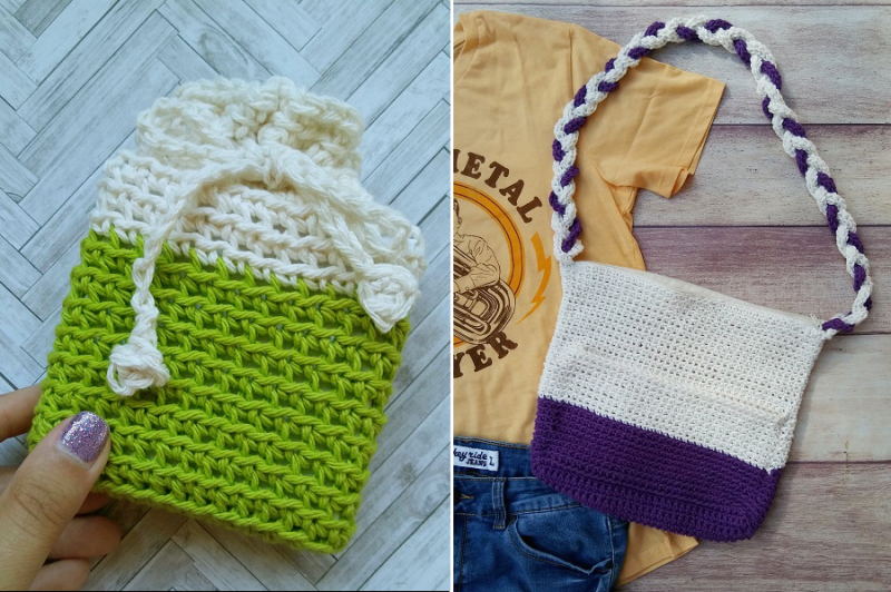 Color-block-crochet-purse