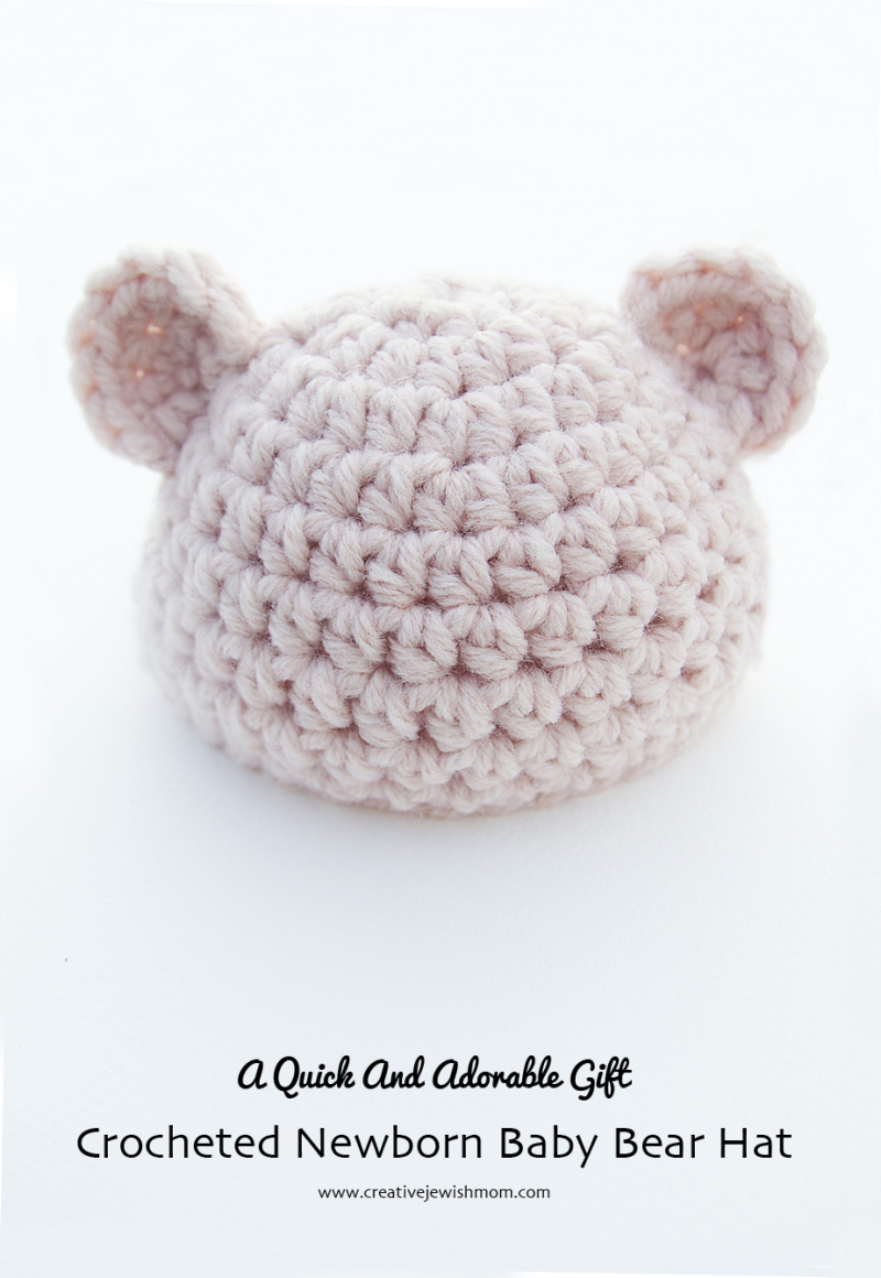 Crocheted-newborn-ears-hat