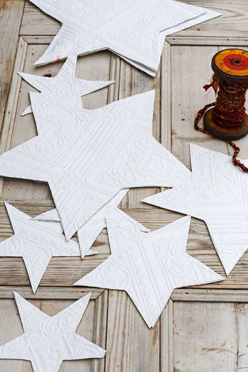 Paper-stars-from-textured-wallpaper