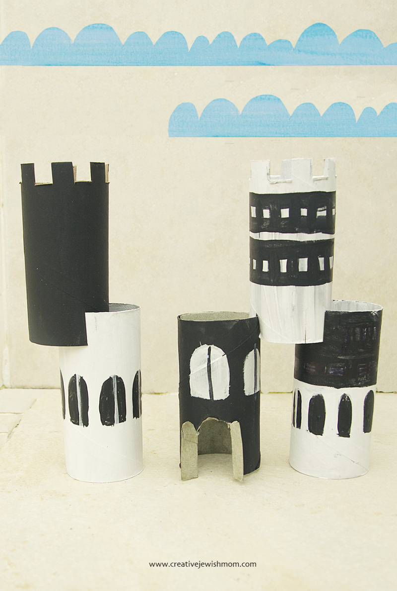 Toilet-paper-tube-castle