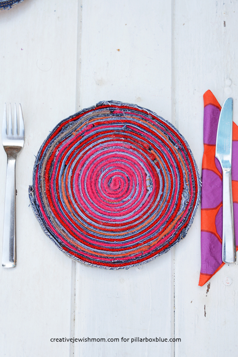 Upcycled-denim-fabric-placemats