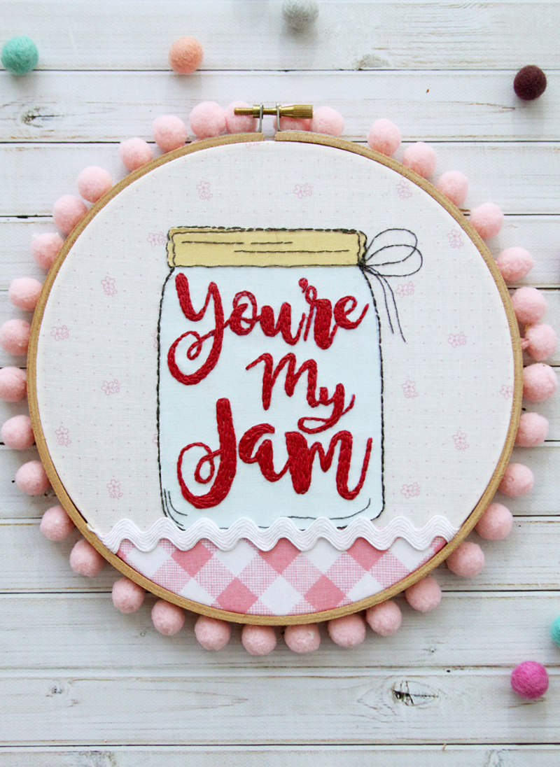 Youre-My-Jam-Embroidery-Hoop-Art-with-pom-poms