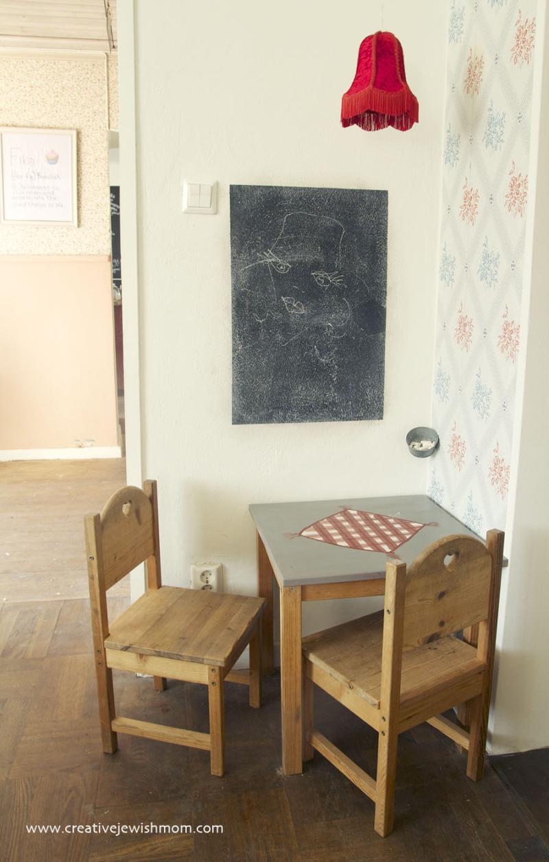 Sweden-cafe-with-vintage-furniture-Falun