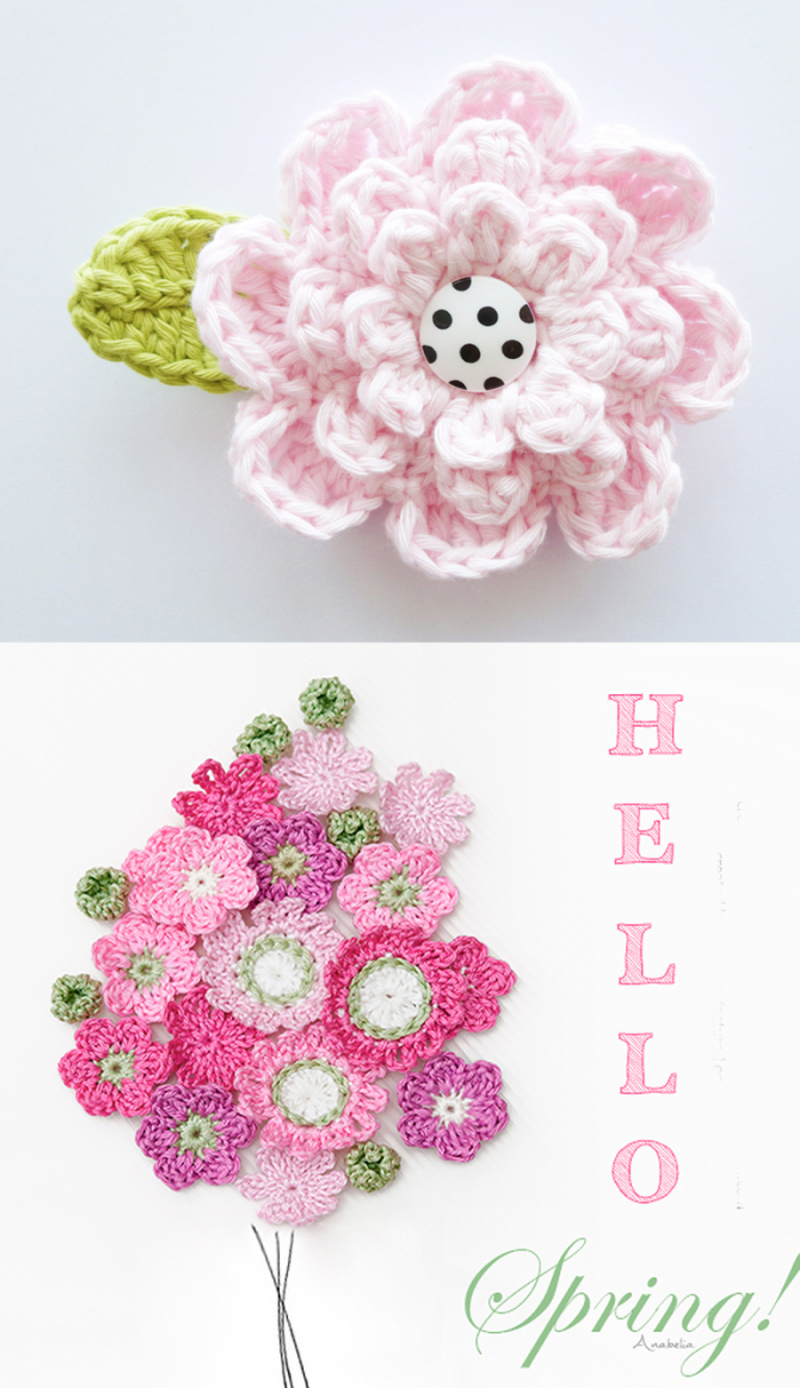 Crocheted-flower-bouquet