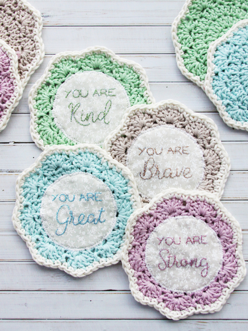 Crocheted-embroidered-coasters