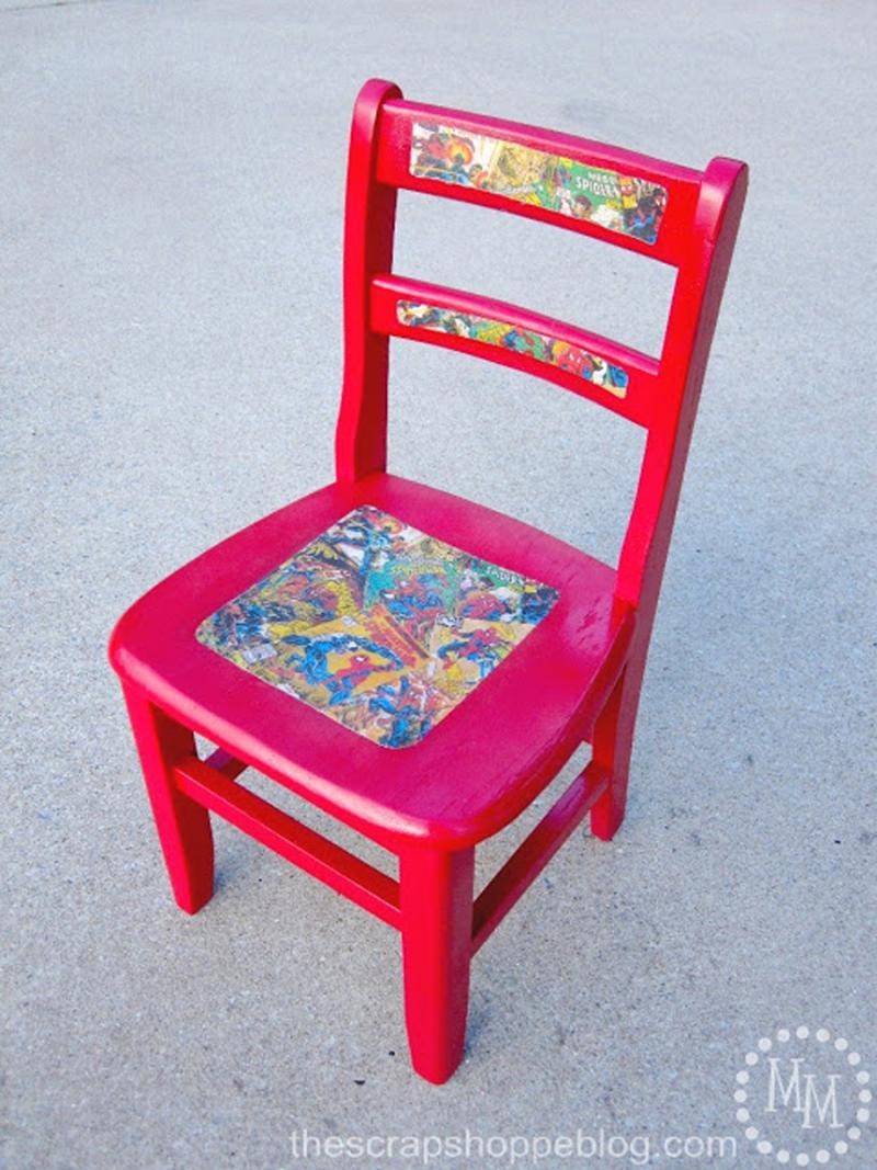 Decoupage-comics-chair