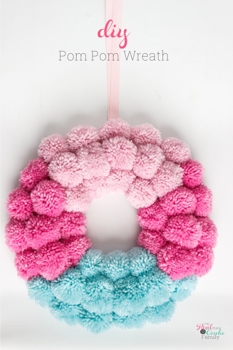 DIY -pom-pom-wreath