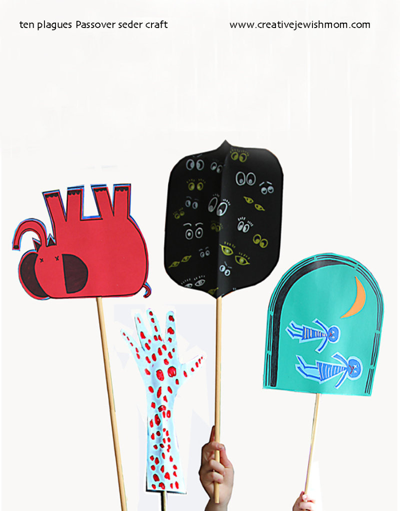 Kids-passover-seder-craft-ten-plagues