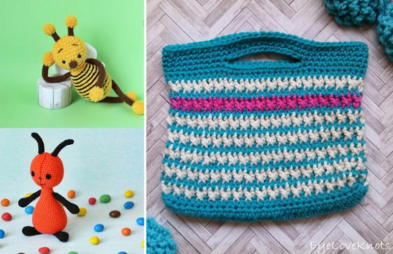 Crochet-small-purse amigurumi-bee