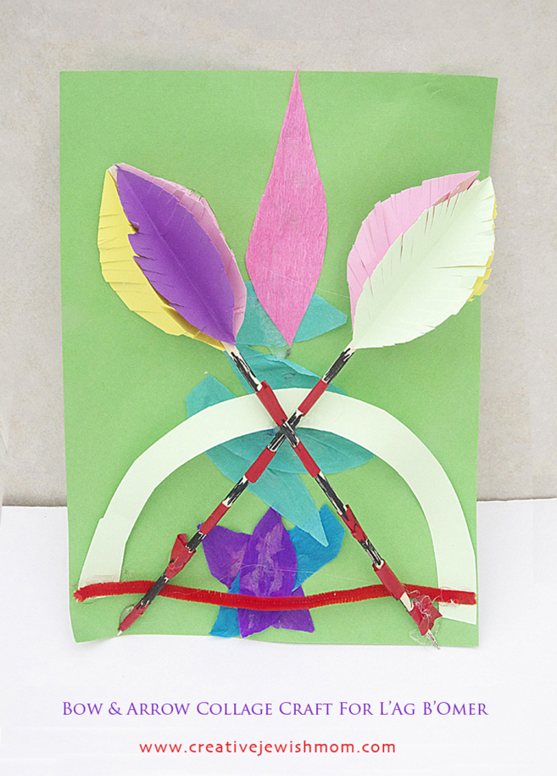 Kid's lag b'omer collage craft