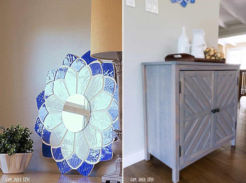 Easy-Tiffany-Mirror-DIY-from-upcycled-lamp