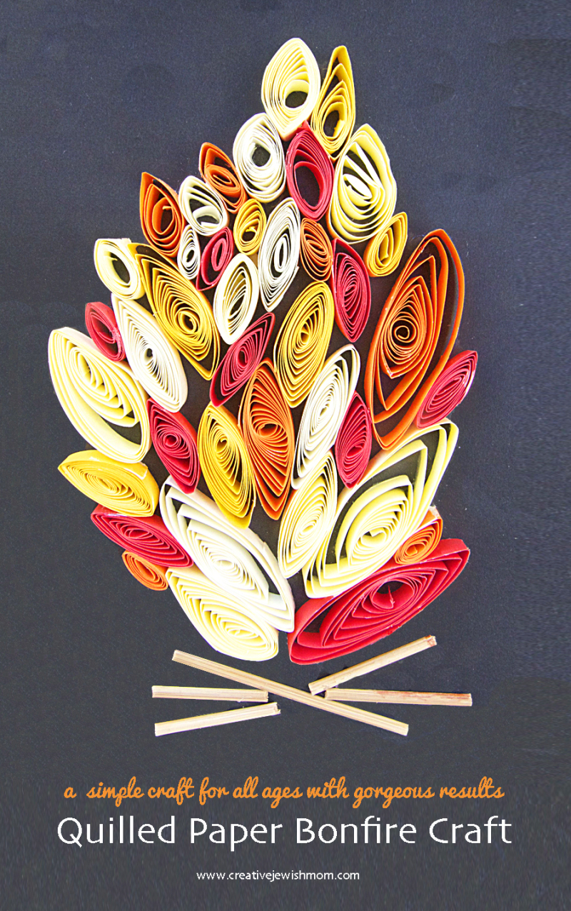 Quilled-Bonfire-Kid's-Craft