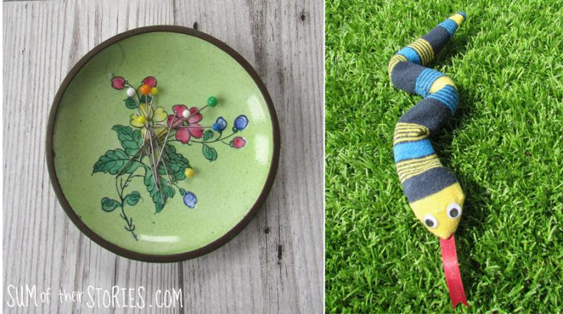 Make+a+magnetic+pin+dish sock-snake