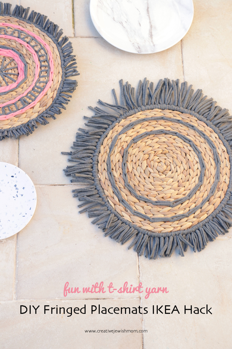 DIY-fringed-round-placemats-Ikea-hack