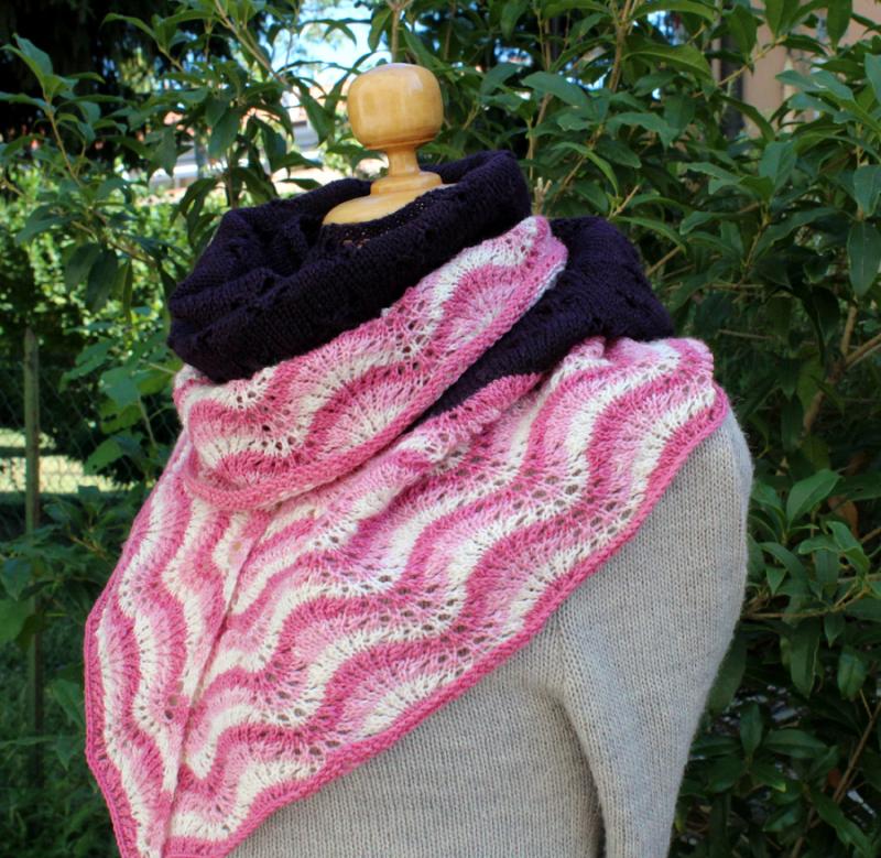 Wavy-knit-shawl
