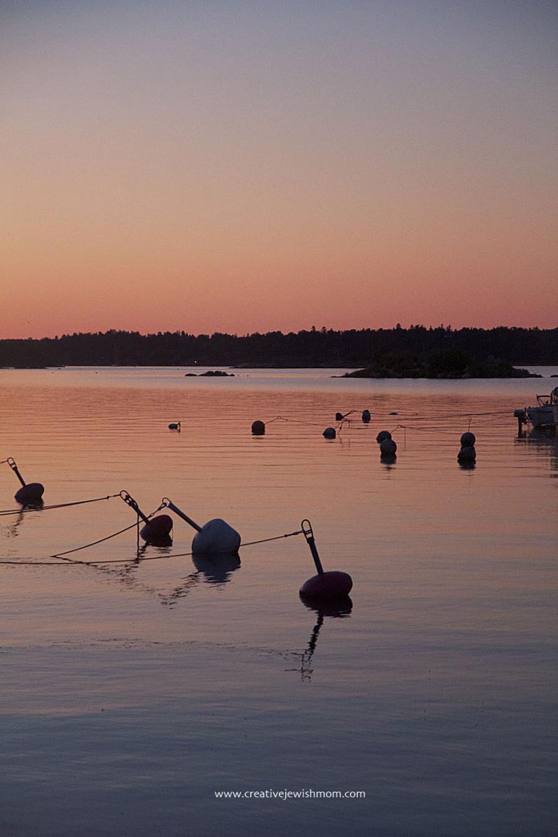 Swedish-sunset-at-Ramsdalen-Marina