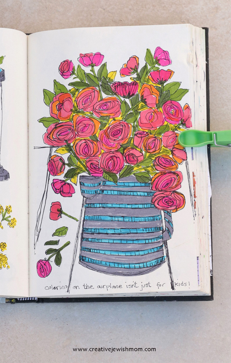 Loose-pen-sketches-of-roses