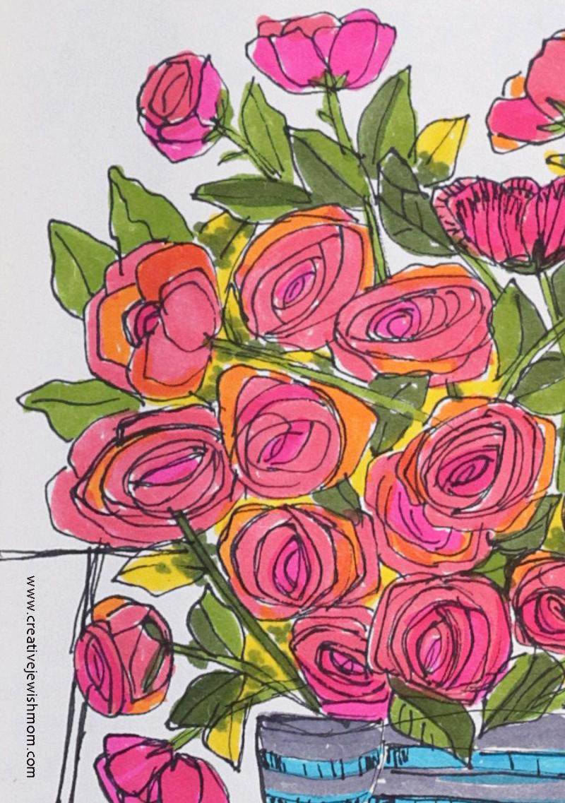 Loose-rose-sketches-in-sketchbook