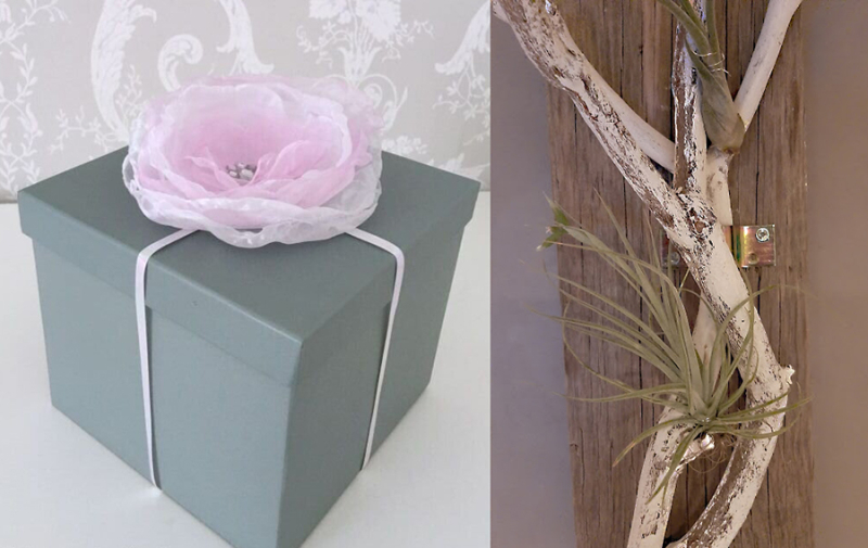 Organza DIY flower air plant holder