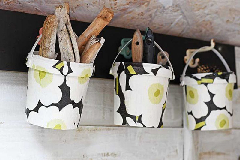 Recycled-yogurt-container-marimekko-baskets