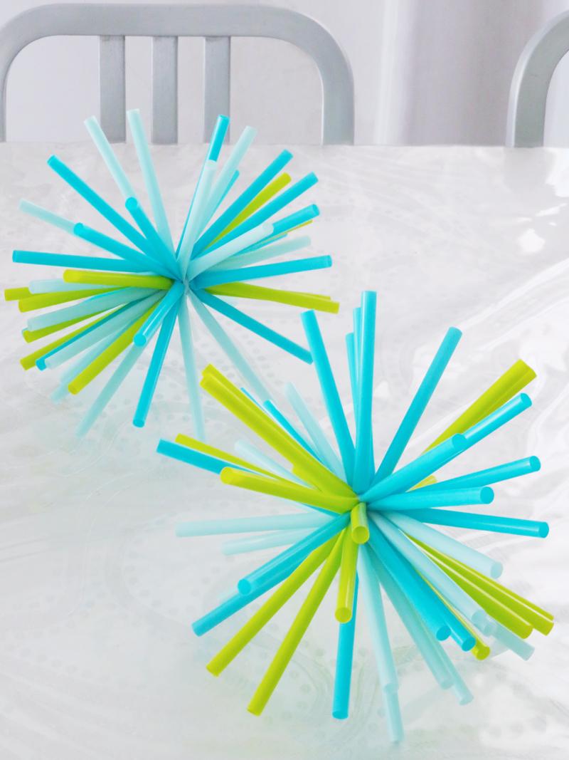 Straw-starburst-birthday-centerpiece