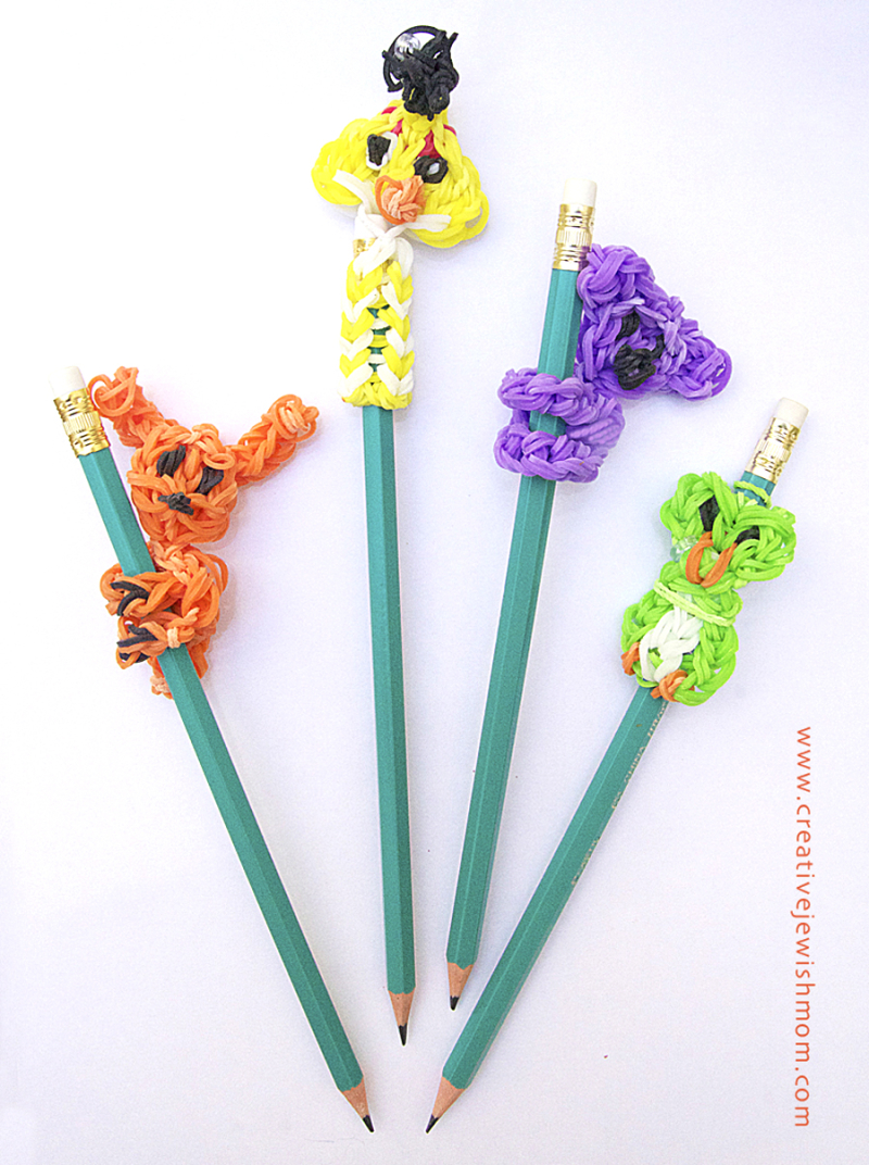 Rainbow-loom-pencil-toppers