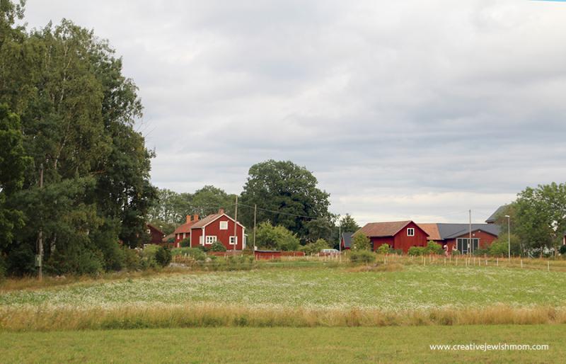 Sweden Farm Buildings On Dalaven