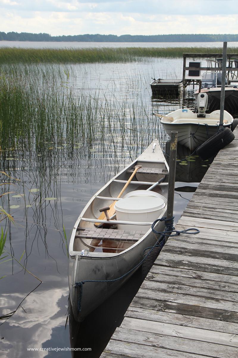 Sweden Canoe On The Dalaven